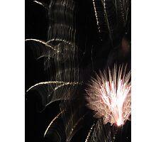 Fireworks Light Trails 11 Photographic Print