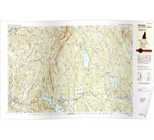 USGS TOPO Map New Hampshire NH Canaan 329881 1984 25000 Poster