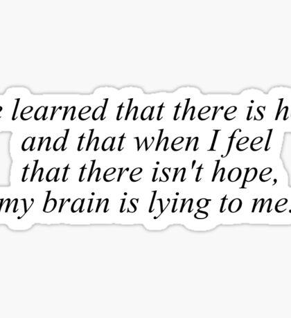 My Brain Lies Sticker