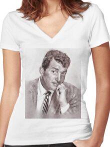 Dean Martin by John Springfield Women's Fitted V-Neck T-Shirt