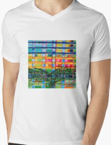 Tree In Front Of A Building Mens V-Neck T-Shirt