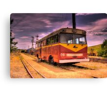 Cooma Railway Station Pay Bus/Train Canvas Print
