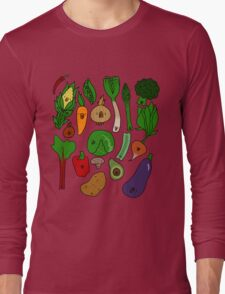 Happy Veggies Long Sleeve T-Shirt
