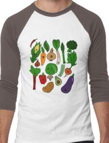 Happy Veggies Men's Baseball ¾ T-Shirt
