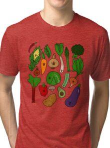 Happy Veggies Tri-blend T-Shirt