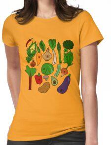 Happy Veggies Womens Fitted T-Shirt