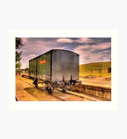 Explosives Wagon Cooma Railway NSW Art Print