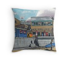 watergate bay Throw Pillow