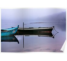 Pacheco blue boat Poster