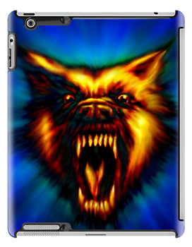 Hell Hound ( Flaming Wolf ) by Marvin Hayes