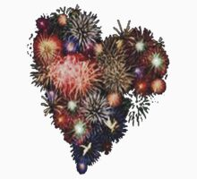 Fireworks Heart Kids Clothes