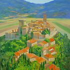 Gualdo Cattaneo walled hilltop village in Umbria Italy by Dai Wynn
