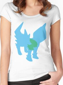 PKMN Silhouette - Electrike Family Women's Fitted Scoop T-Shirt