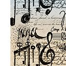 Musical Notes ihone case # 2  by Elaine  Manley