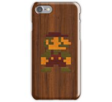 Super Wooden Mario iPhone Case/Skin
