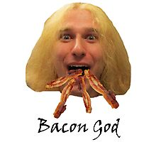 Bacon God Photographic Print