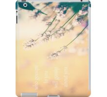 who gossips to you will gossip about you iPad Case/Skin