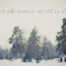 Do it with passion or not at all by netza