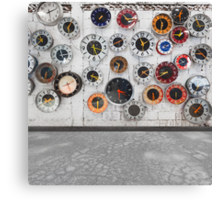 Retro clocks on the wall Canvas Print