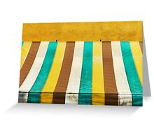colorful grunge canvas on yellow wall Greeting Card