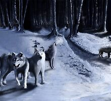 Wolves Wolf Pack by pixelfreak