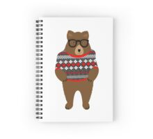Cute Cuddly Festive Teddy Bear  Spiral Notebook