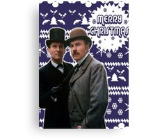 Merry Christmas [Brett's Sherlock] Canvas Print