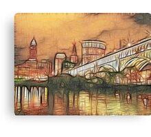 Cleveland Lakeside Canvas Print