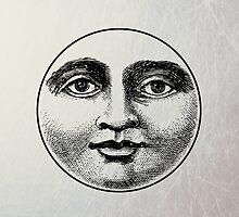 Moon Face - iPad Case by Carol Knudsen