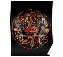 ANCIENT FIRE SYMBOL - inferno Poster