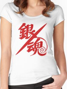 Gintama Red Logo Anime Women's Fitted Scoop T-Shirt