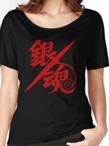 Gintama Red Logo Anime Women's Relaxed Fit T-Shirt