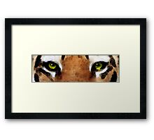 Tiger Art - Hungry Eyes Framed Print