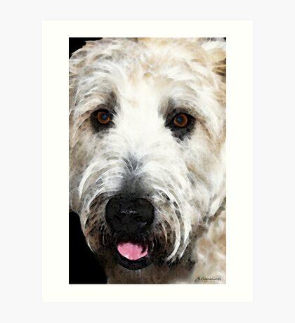 Wheaten Terrier - Happy Dog Art Print