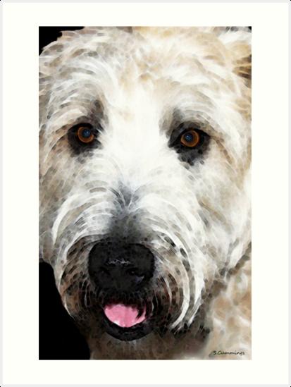 Wheaten Terrier - Happy Dog by Sharon Cummings