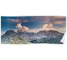 Pano View from Rifugio Biella, Dolomites Poster