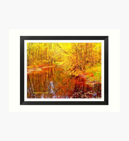 Multi-Colored Michigan - (Framed) Art Print
