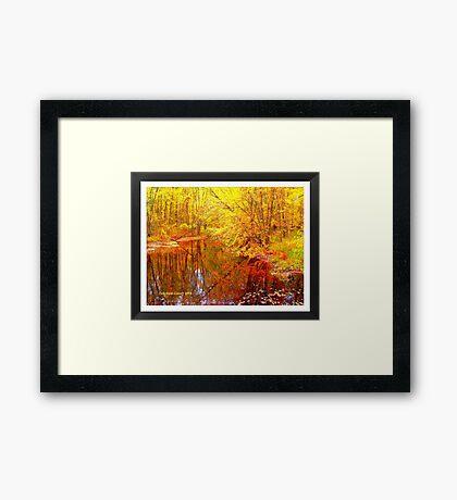 Multi-Colored Michigan - (Framed) Framed Print