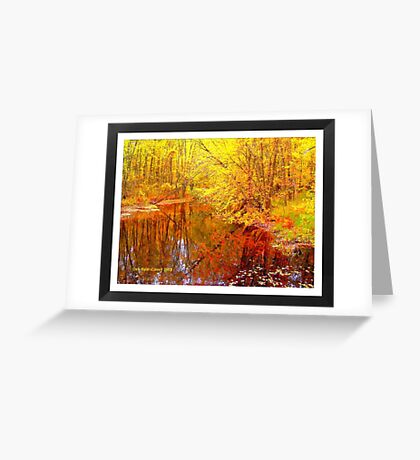 Multi-Colored Michigan - (Framed) Greeting Card