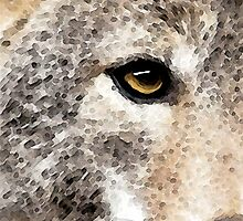 Wolves Art - Lone Wolf by Sharon Cummings
