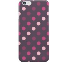 Pink and Purple Polka Dots iPhone Case/Skin