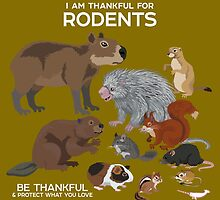 I Am Thankful For Rodents by PepomintNarwhal