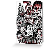 Evil Dead Trilogy Greeting Card