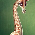 Dramatic Giraffe by Kate Moon