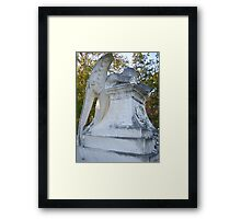 Cemetery Weeping Angel Framed Print