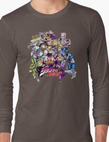 JoJo's Bizarre Adventure: Diamond Is Unbreakable Characters Long Sleeve T-Shirt