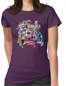 JoJo's Bizarre Adventure: Diamond Is Unbreakable Characters Womens Fitted T-Shirt