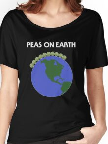 Peas On Earth Women's Relaxed Fit T-Shirt