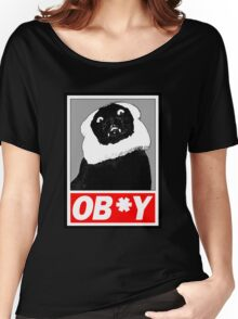 Ob*y breaded cat Women's Relaxed Fit T-Shirt