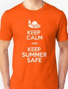 Keep Calm and Keep Summer Safe Unisex T-Shirt